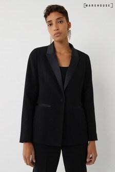 בלייזר של Warehouse דגם Tuxedo בשחור