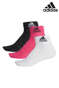 adidas Pink Multi Ankle Socks Three Pack