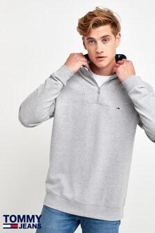 Tommy Jeans Zip Mock Neck Sweatshirt