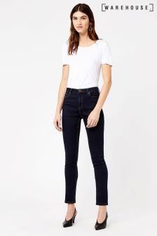 Warehouse Indigo High Rise Skinny Cut Jean