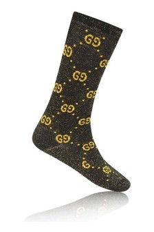 Black Glittery GG Socks