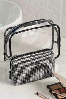 Set of 2 Dogtooth Cosmetic Bags