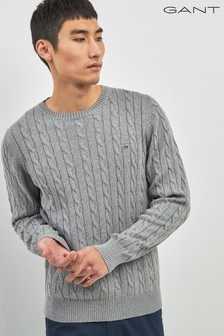 034d55ad5 Grey · Navy · Blue · GANT Crew Neck Knit Jumper