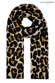 Accessorize Leopard Lucy Leopard Soft Blanket Scarf