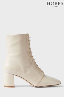 Hobbs Beige Imogen Lace Ankle Boots