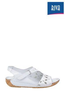 Riva White Barcelona Summer Sandals