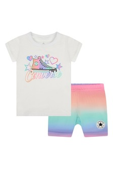 Converse Girls White Outfit