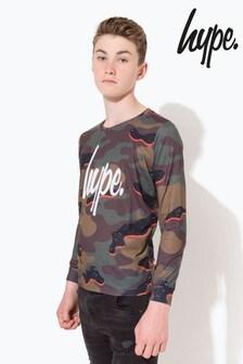 Hype. Camo Script T-Shirt