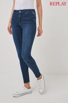 Replay® Hyperflex Blue Skinny Leg Jeans
