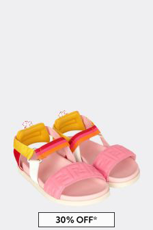 Fendi Kids Leather Sandals