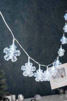 10 Snowflake Peg Line Lights