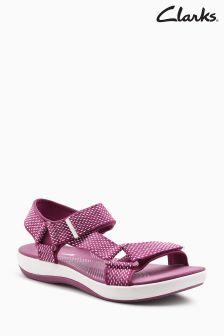 Clarks Fuchsia/White Brizo Cady Strap Sandal