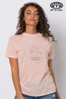 Animal Orange Time Flies Graphic T-Shirt