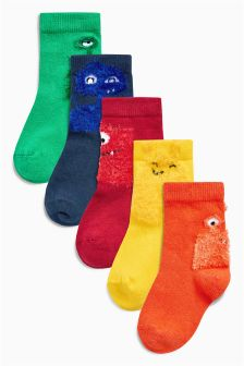 Bright Monster Socks Five Pack (Younger)