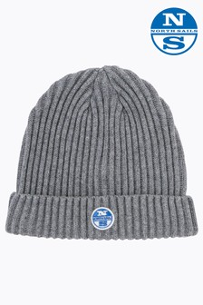 North Sails Grey Melange W Logo Beanie
