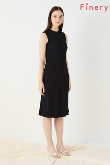 Finery London Black Delaware Bias Seam Dress