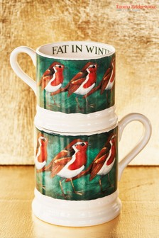 Emma Bridgewater Robin On The Green Half Pint Mug