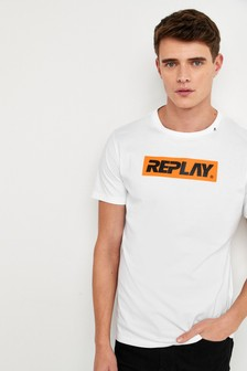 Replay® T-Shirt mit Logo