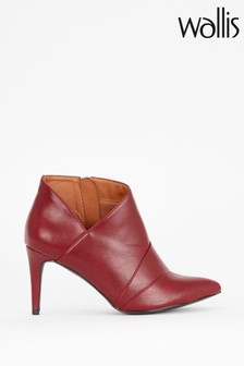 Wallis Alibi Red 3 Panel Shoe Boots