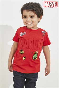 Short Sleeve Marvel® Embossed T-Shirt (3mths-6yrs)