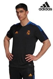 adidas Black Real Madrid Training T-Shirt