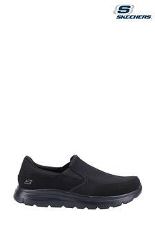 Skechers® Black Flex Advantage Mcallen Slip Resistant Wide Fit Shoes