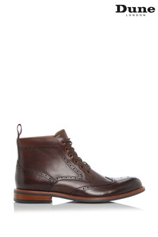 Dune London Morale Brown Leather Brogue Boots