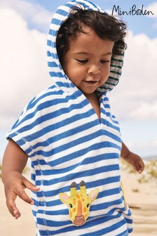 Boden Blue Fun Towelling Throw-On