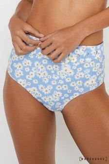 Warehouse Blue Daisy Underwire Bikini Top