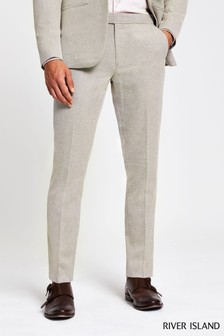 River Island Natural New Linen Trousers