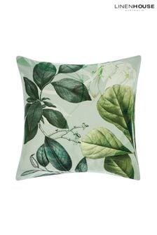Linen House White Glasshouse Large Botanical Pillowcase Sham
