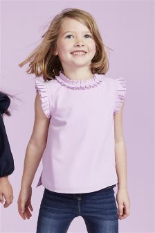 Pleat Collar Top (3-16yrs)