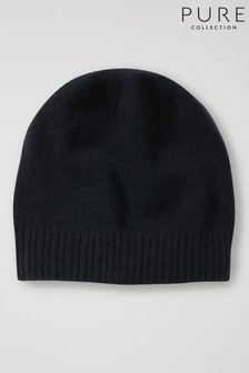 Pure Collection Black Cashmere Hat
