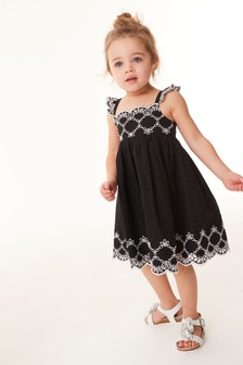 Cotton Broderie Beach Dress (3mths-7yrs)
