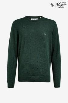 Original Penguin® 12GG Solid Merino Crew Sweater