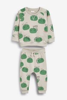 GOTs Organic Apple Sweatshirt And Jogger Set (0mths-2yrs)
