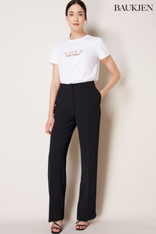 Baukjen Black Clio Wide Leg Trousers
