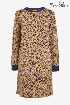 Boden Animal Rib Cuff Sweatshirt Dress