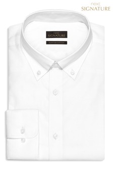 Signature Egyptian Cotton Shirt With Button Down Collar
