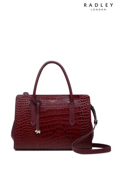 Radley London Merlot Liverpool Street Faux Medium Zip Bag