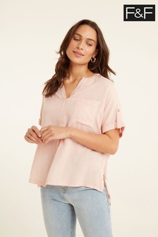 F&F Pink Popover Shirt