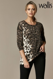Wallis Petite Neutral Animal Hotfix Jumper