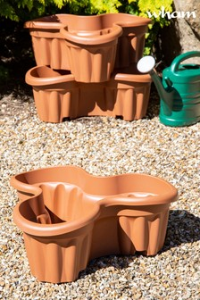 Set of 3 Vista Large Tri Garden Planters by Wham