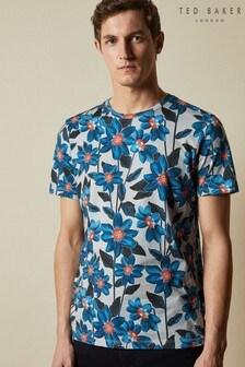 Ted Baker Feris T-Shirt mit Blumenprint, grau