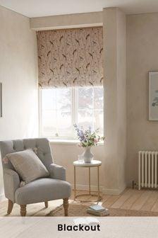 Chinoiserie Bird Trail Print Blackout Roller Blind