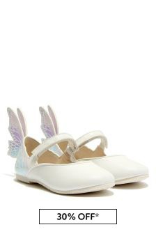 Sophia Webster Girls White Talulah Flats