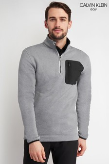 Calvin Klein Golf Grey Pinnacle Half Zip Sweater
