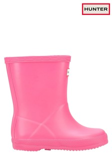 Hunter Pink First Classic Wellington Boots