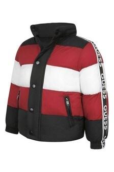 Black Red/White Padded Jacket