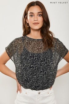 Mint Velvet Animal Philippa Print T-Shirt